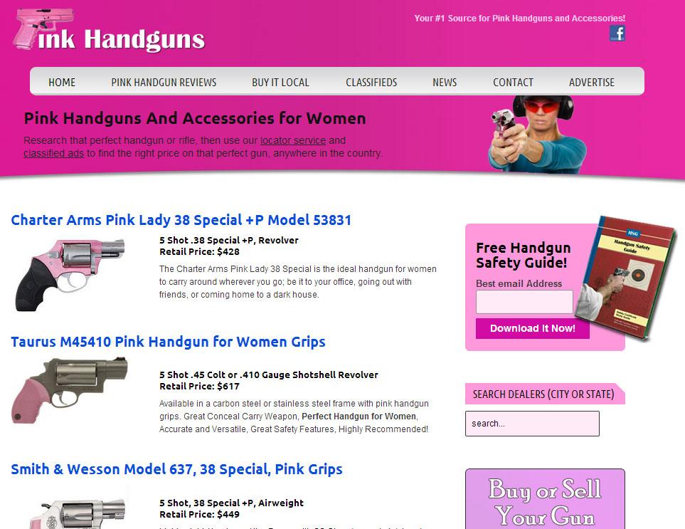 pink handguns website portfolio